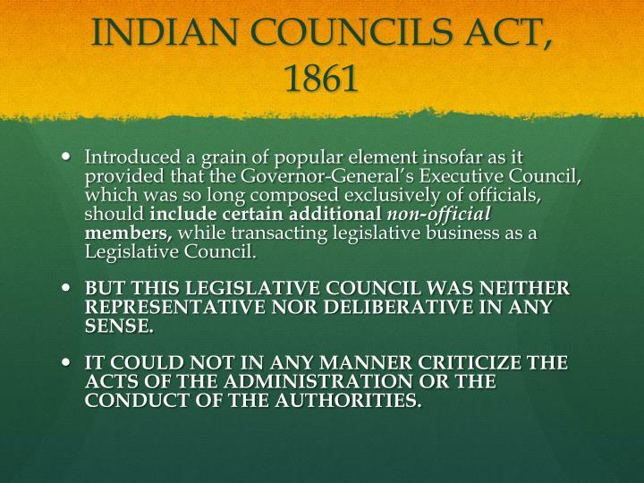indian council act 1861