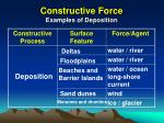 constructive force examples of deposition