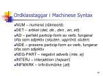 ordklasstaggar i machinese syntax1