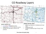 co roadway layers