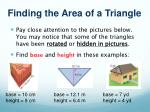 finding the area of a triangle1