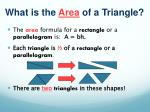 what is the area of a triangle