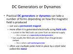 dc generators or dynamos