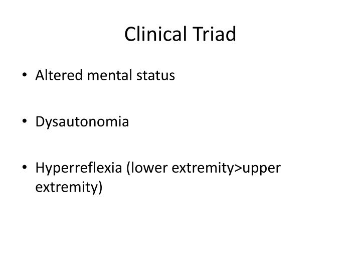Clinical triad