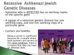 recessive ashkenazi jewish genetic diseases