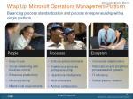 wrap up microsoft operations management platform