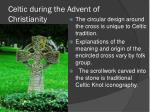 celtic during the advent of christianity
