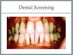 dental screening