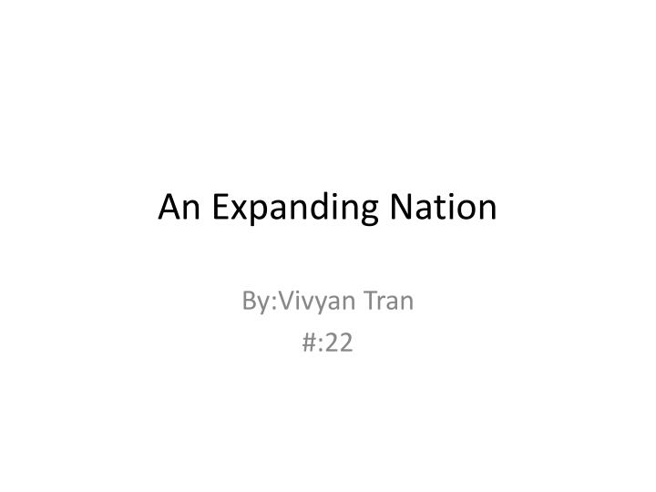an expanding nation n.