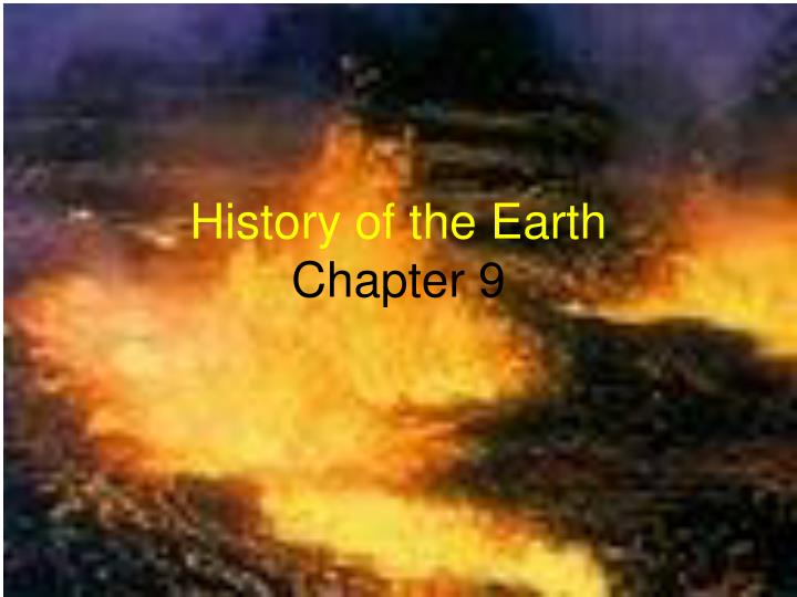 history of the earth chapter 9 n.