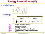 energy resolution e