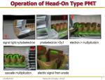 operation of head on type pmt