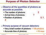 purpose of photon detector1