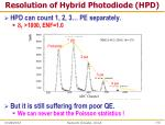 resolution of hybrid photodiode hpd