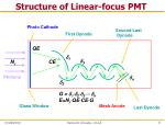 structure of linear focus pmt