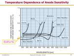 temperature dependence of anode sensitivity