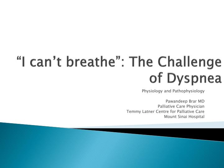 i can t breathe the challenge of dyspnea n.