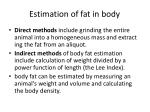 estimation of fat in body