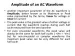 amplitude of an ac waveform