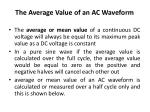 the average value of an ac waveform