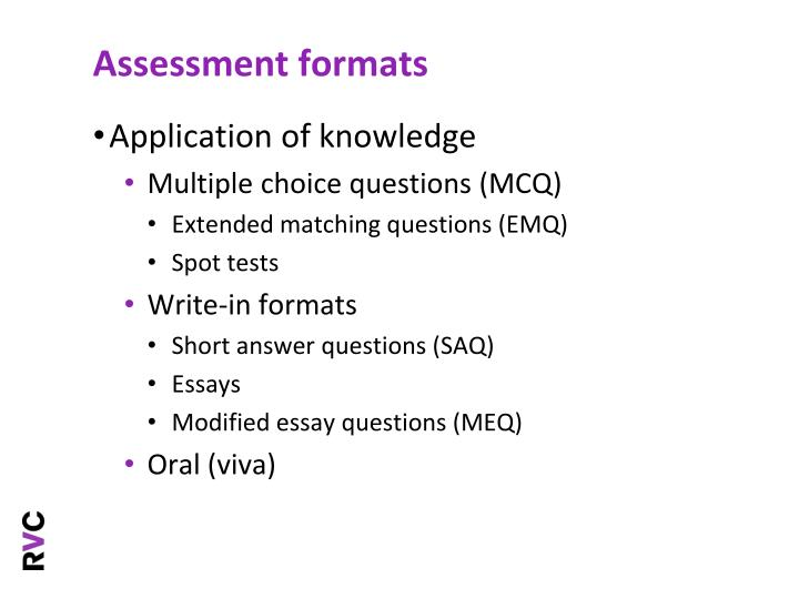 modified essay questions medical education Originating and often used in medical education, meqs are a sequence of questions based on a case study and designed to test higher order thinking.