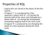 properties of rql