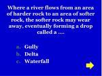 gully delta waterfall