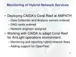 monitoring of hybrid network services