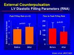 external counterpulsation lv diastolic filling parameters rna