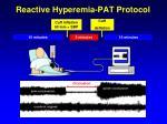 reactive hyperemia pat protocol