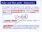polar and non polar dielectrics