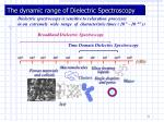 the dynamic range of dielectric spectroscopy