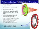 r eference design pvdis electron cherenkov