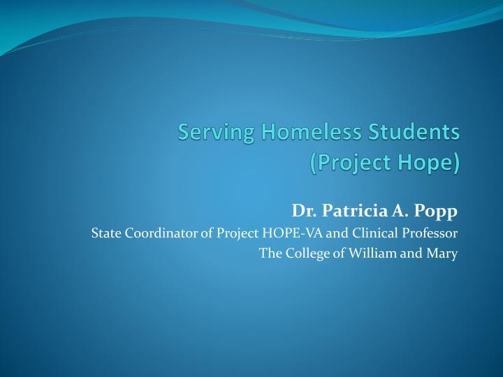 serving homeless students project hope n.
