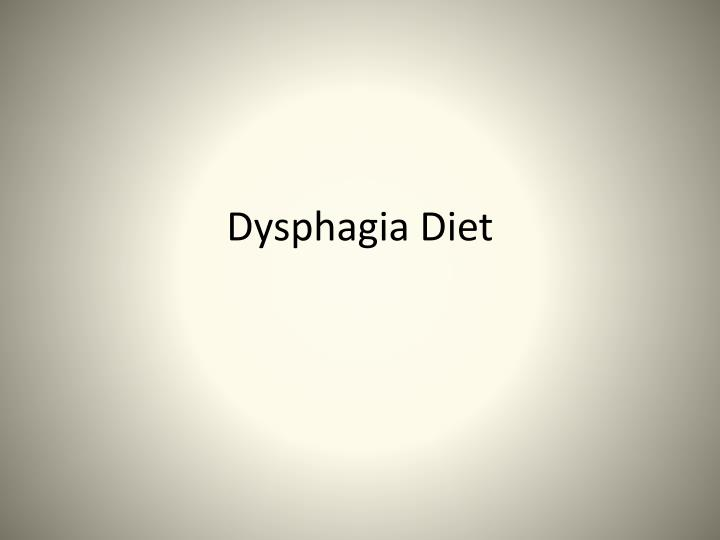 dysphagia diet n.