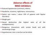 adverse effects of mao inhibitors