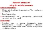 adverse effects of tricyclic antidepressants1