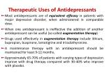 therapeutic uses of antidepressants