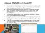 clinical research spreadsheet