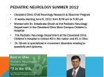 pediatric neurology summer 2012