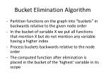 bucket elimination algorithm