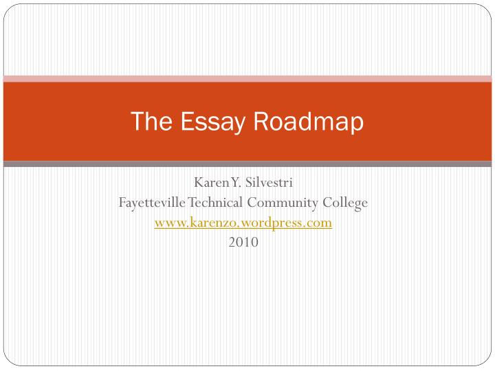 the essay roadmap n.