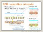 gpm operation principle