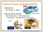 hybrid photo detector hpd