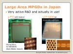 large area mpgds in japan