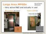 large area mpgds