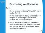 responding to a disclosure