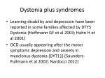 dystonia plus syndromes