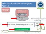 new structure of nhs in england april 131
