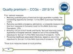 quality premium ccgs 2013 14